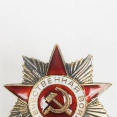 Militaria: ORDEN RUSA DE LA GUERRA PATRIA PLATA ESMALTES RUSIA UNION SOVIETICA CCCP. Lote 136742334