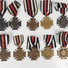 Militaria: LOTE 10 MEDALLAS ALEMANAS PRIMERA GUERRA MUNDIAL CRUZ DE HONOR PARA COMBATIENTES. Lote 136748142
