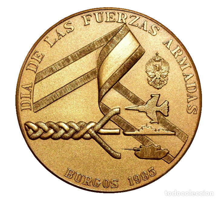 Militaria: MEDALLA DÍA DE LAS FUERZAS ARMADAS 1983 BURGOS ESTUCHE ORIGINAL EXCELENTE ESTADO - Foto 3 - 50660760