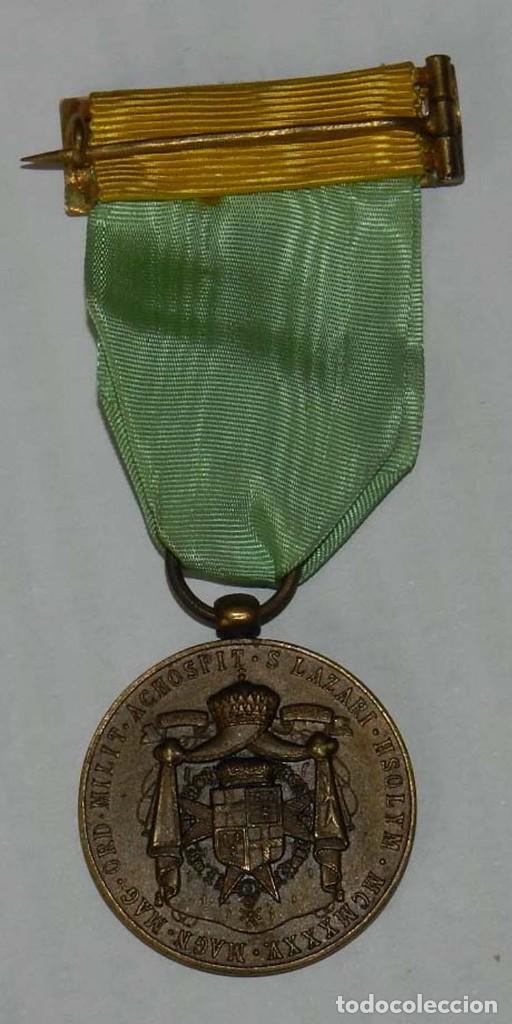 Militaria: Medalla Orden Militar y Hospitalaria de San Lázaro de Jerusalén, año 1935, Republica, Francisco de B - Foto 3 - 137965658