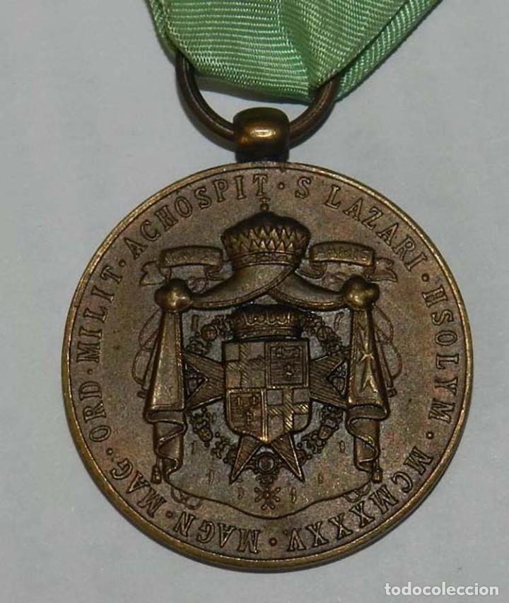 Militaria: Medalla Orden Militar y Hospitalaria de San Lázaro de Jerusalén, año 1935, Republica, Francisco de B - Foto 4 - 137965658