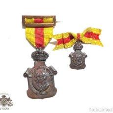 Militaria: MEDALLAS HOMENAJE DE LOS AYUNTAMIENTOS A LOS REYES AÑO 1925. Lote 138623550