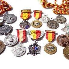 Militaria: LOTE DE 20 MEDALLAS TIRO. ALGUNAS EN PLATA.- ESPAÑA. FRANCIA.MADRID.BARCELONA.ZÜRICH.FALANGE. Lote 138669302