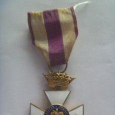 Militaria: MEDALLA CRUZ DE SAN HERMENEGILDO EPOCA DE ALFONSO XIII MODIFICADA DE FRANCO CON CORONA IMPERIAL.. Lote 138881726