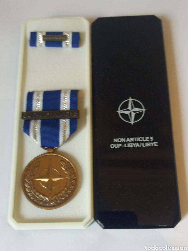 MEDALLA OTAN OUP LIBYA LIBYE (Militar - Medallas Internacionales Originales)