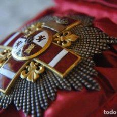 Militaria: PLACA ALFONSO XII - XIII MERITO MILITAR DISTINTIVO ROJO PENSIONADA.. Lote 139424678