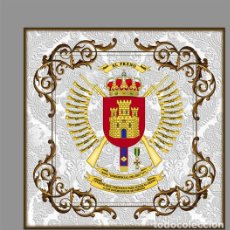 Militaria: AZULEJO 10X10 CON ESCUDO DEL REGIMIENTO DE INFANTERÍA INMEMORIAL DEL REY N.º 1. Lote 139515386