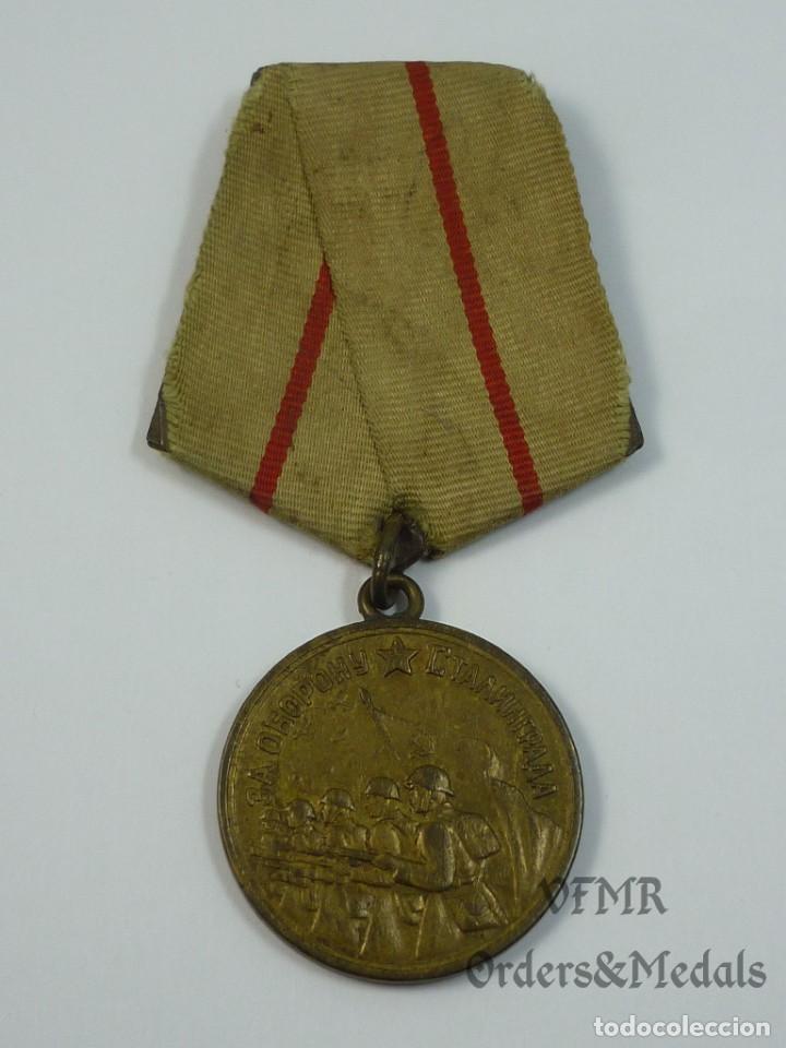 URSS - MEDALLA DE LA DEFENSA DE STALINGRADO (Militar - Medallas Extranjeras Originales)