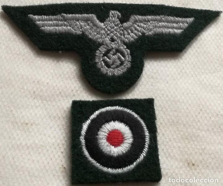 PARCHE Y COCARDA GORRA EJÉRCITO WHERMACHT. ALEMANIA. III REICH. 1939-1945. II GUERRA MUNDIAL RÉPLICA (Militar - Reproducciones y Réplicas de Medallas )