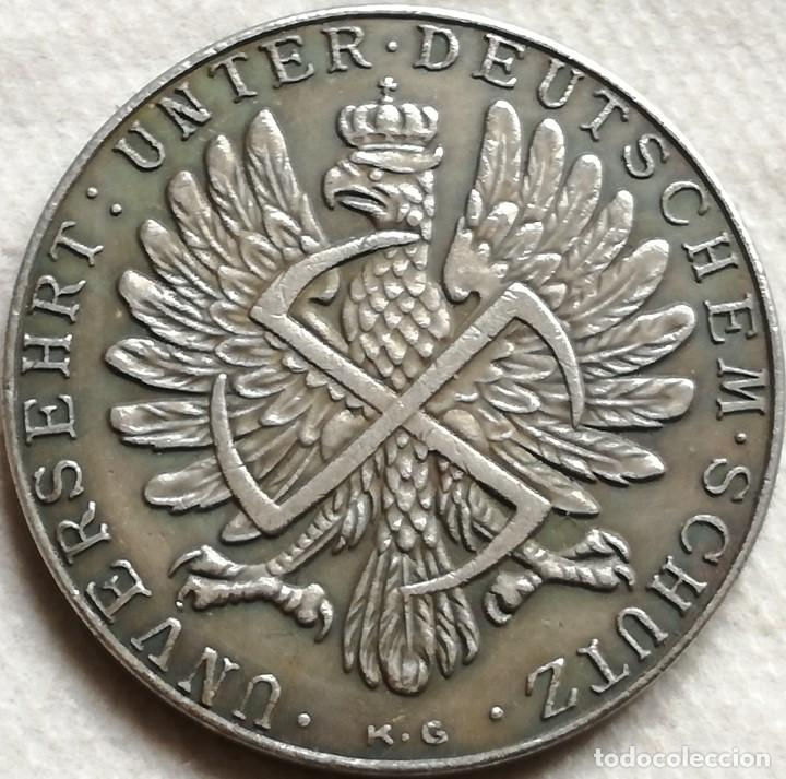 Militaria: RÉPLICA Medalla Virgen María y Niño Jesus de Czestochowa. Alemania. Pre II Guerra Mundial. 1939 - Foto 2 - 140569322