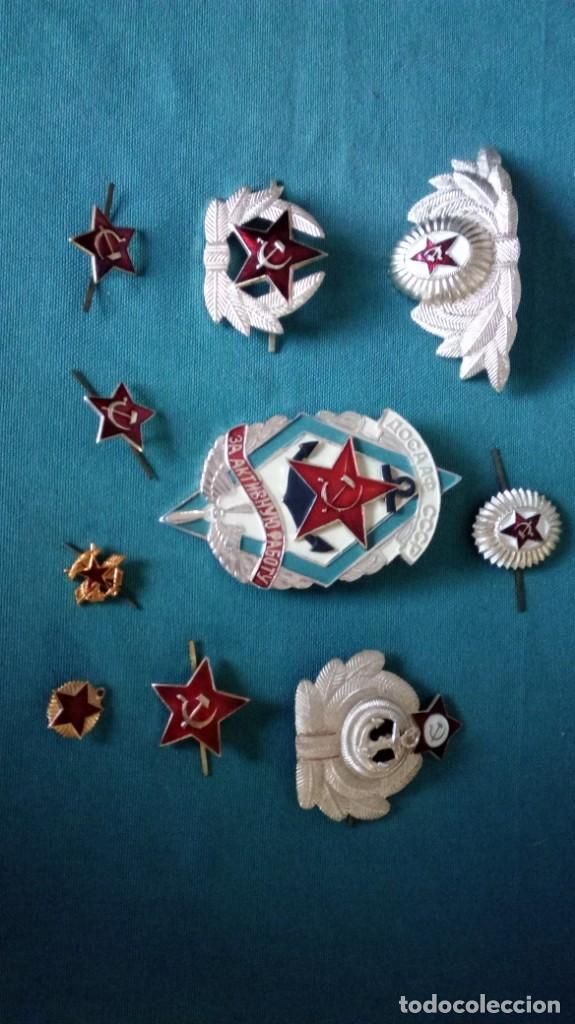 LOTE 10 INSIGNIAS CCCP / LOTE INSIGINIAS URSS / UNION SOVIETICA (Militar - Reproducciones y Réplicas de Medallas )