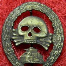 Militaria: LEGIÓN CONDOR GUERRA CIVIL ESPAÑOLA - TANQUISTA – CATEGORIA BRONCE EN METAL. 60 X 47 - MARCAJE. Lote 140937388