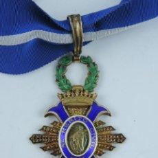 Militaria: ENCOMIENDA DE LA ORDEN DEL MÉRITO CIVIL. ÉPOCA FRANCO. PLATA Y ESMALTES. CON SU CINTA ORIGINAL.. Lote 141287150