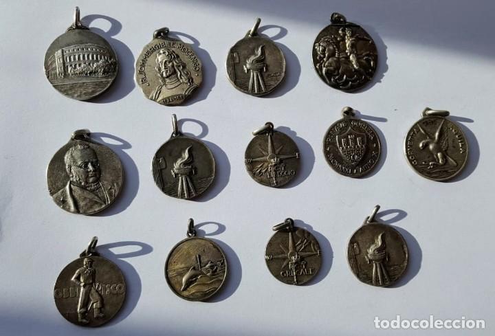 ITALIA LOTE MEDALLAS EN PLATA DE BUQUES (Militar - Medallas Extranjeras Originales)
