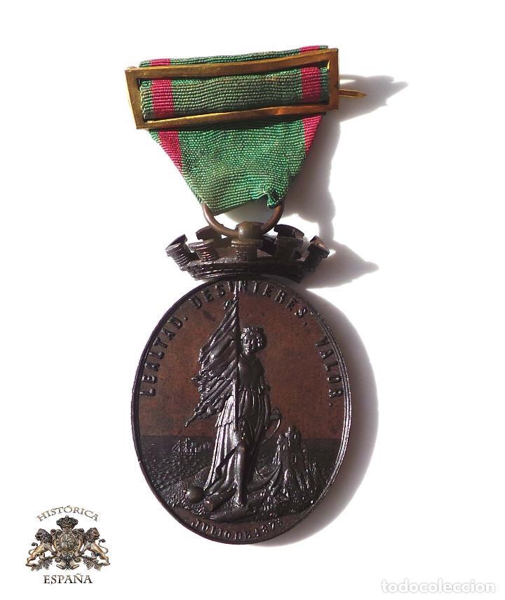 MEDALLA A LOS DEFENSORES DE LA CARRACA.JULIO DE 1873.CASTELLS. (Militar - Medallas Españolas Originales )