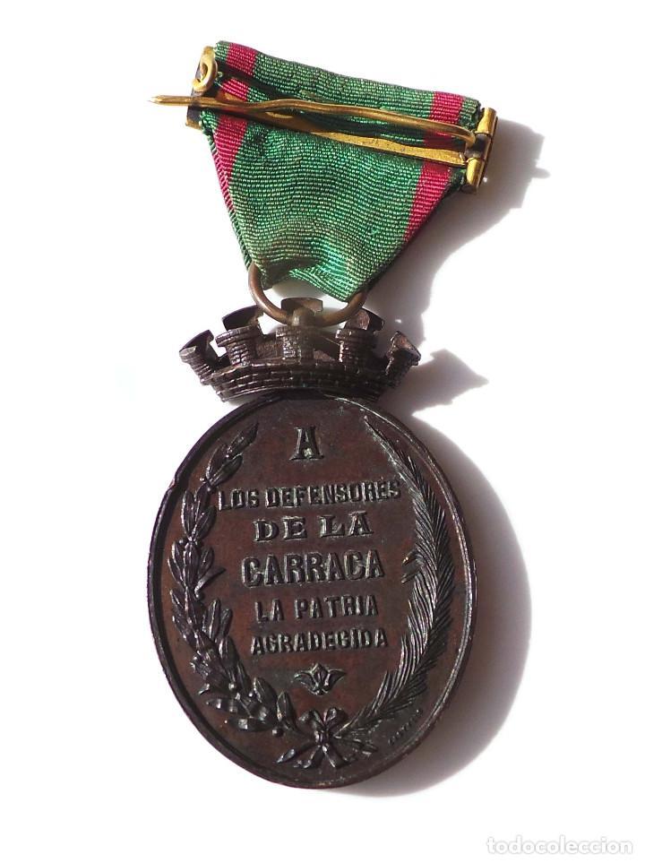 Militaria: MEDALLA A LOS DEFENSORES DE LA CARRACA.JULIO DE 1873.CASTELLS. - Foto 2 - 141898814
