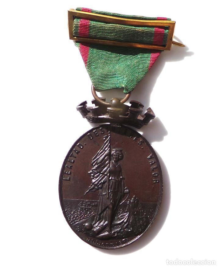 Militaria: MEDALLA A LOS DEFENSORES DE LA CARRACA.JULIO DE 1873.CASTELLS. - Foto 3 - 141898814