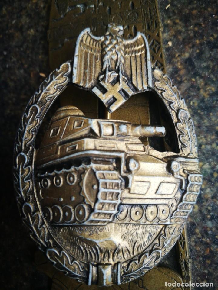 PLACA DE CARROS DE COMBATE EJERCITO ALEMÁN II G.M.. EN SU VARIANTE BRONCE PARA CARROS DE ASALTO. (Militaria - Originale internationale Medaillen und Orden)