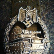 Militaria: PLACA DE CARROS DE COMBATE EJERCITO ALEMÁN II G.M.. EN SU VARIANTE BRONCE PARA CARROS DE ASALTO.. Lote 142221146