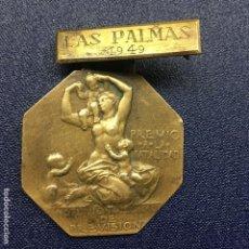 Militaria: MEDALLA DE PREMIO A LA NATALIDAD DE LA CAJA NACIONAL DE SUBSIDIOS FAMILIARES, LAS PALMAS AÑO 1947. Lote 143210358