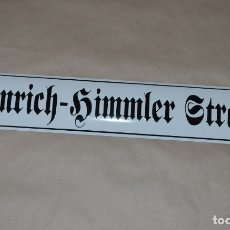 Militaria: WWII GERMAN ENAMEL SIGN HEINRICH - HIMMLER STRASSE. Lote 143507566