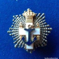 Militaria: MINIATURA DE OJAL DE LA PLACA DE LA ORDEN DEL MERITO NAVAL - EPOCA JUAN CARLOS I. Lote 143615046