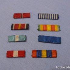 Militaria: * LOTE 8 ANTIGUO PASADOR DE MEDALLA DE DIARIO, ORIGINALES. PASADORES. ZX. Lote 143688830