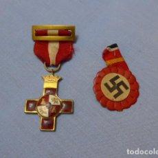 Militaria: * LOTE DE MEDALLA DE DIVISION AZUL, ORIGINALES. MERITO MILITAR ROJO Y EMBLEMA. ZX. Lote 143693398