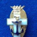Militaria: MINIATURA DE OJAL DEL MERITO NAVAL DISTINTIVO BLANCO - EPOCA DE FRANCO. Lote 143787638