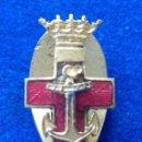 Militaria: MINIATURA DE OJAL DEL MERITO NAVAL DISTINTIVO ROJO - EPOCA DE FRANCO. Lote 143788574