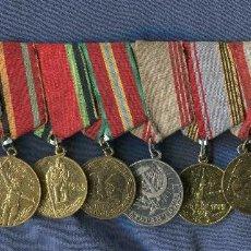 Militaria: PASADOR CON 10 MEDALLAS DE LA URSS Y UCRANIA. . Lote 144145006