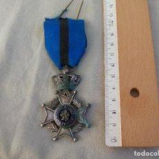 Militaria: MEDALLA DE BELGICA. L'UNION FAIT LA FORCE EENDRACHT MAAKT MACHT. DE LA ORDE DE LEOPOLDO II. Lote 144162886
