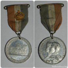 Militaria: MEDAL KING GEORGE V, QUEEN MARY, COMMEMORATION OF THE CORONATION, JUNE 22 ND 1911, REALIZADA EN ALUM. Lote 144220738