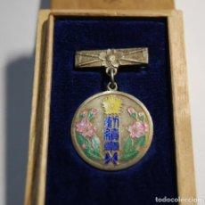 Militaria: RARISIMA MEDALLA DE PLATA MACIZA DE JAPON.AL MERITO DEL CUERPO DE BOMBEROS DEL AÑO 1931.LUJO.. Lote 144311154