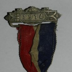 Militaria: MEDAL THE COUNTY COUNCIL OF DORSET, AWARDED FOR UNBROKEN ATTENDANCE, AÑO 1914, MIDE 3,5 CMS.. Lote 144316210