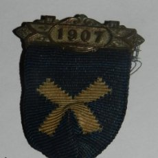 Militaria: MEDAL THE COUNTY COUNCIL OF DORSET, AWARDED FOR UNBROKEN ATTENDANCE, AÑO 1907, MIDE 3,2 CMS.. Lote 144317078