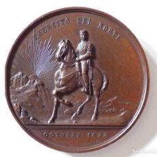 Militaria: EJÉRCITO DEL NORTE 1878. MEDALLA DE 70MM DE DIÁMETRO. CASTELLS. Lote 144320170