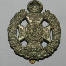 Militaria: WW1 THE RIFLE BRIGADE WHITE METAL CAP BADGE BRITISH ARMY. Lote 144429826