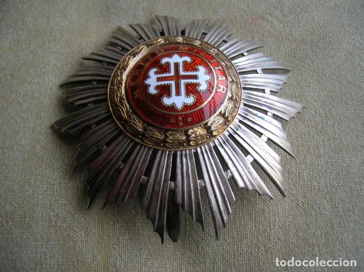 MUY BELLA Y ANTIGUA PLACA O CRUZ DE LA ORDEN PORTUGUESA AL MERITO MILITAR. PORTUGAL. (Militar - Medallas Extranjeras Originales)