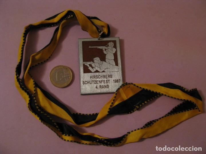 MEDALLA DE COMPETICIÓN DE DISPAROS. HIRSCHBERG SCHUTZENFEST. ALEMANIA. 1987. BUTTEL. (Militar - Medallas Internacionales Originales)