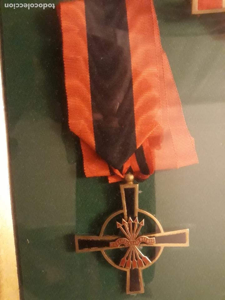 Militaria: Cuadro con medallas militares originales - Foto 6 - 144869322