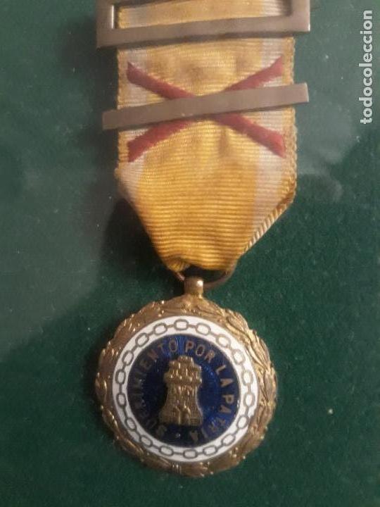 Militaria: Cuadro con medallas militares originales - Foto 12 - 144869322