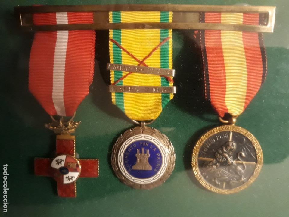 Militaria: Cuadro con medallas militares originales - Foto 13 - 144869322
