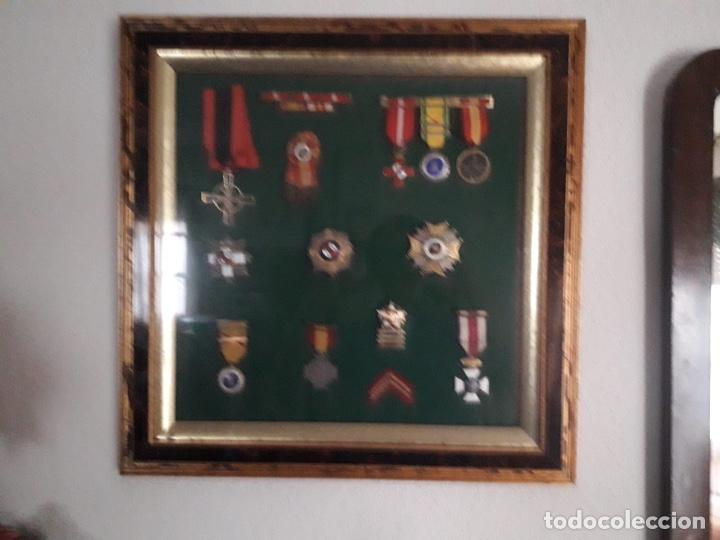 Militaria: Cuadro con medallas militares originales - Foto 16 - 144869322