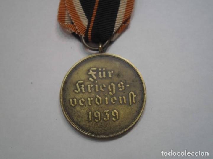 Militaria: Medalla del merito militar 1939, alemania - medalla original con su cinta - Foto 4 - 64765049