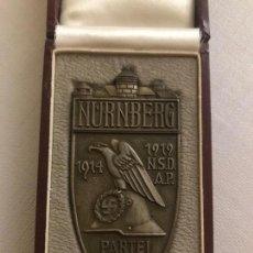 Militaria: PLACA DE PLATA CONMEMORATIVA DEL REICHSPARTEITAG NSDAP 1929, TERCER REICH, HITLER, NAZI. Lote 145852634