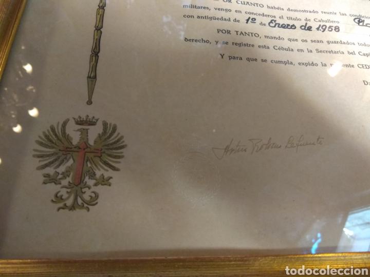 Militaria: Placa Premio A La Constancia Militar y Diploma de Concesión a Comandante de Infantería año 1965 - Foto 2 - 146293148