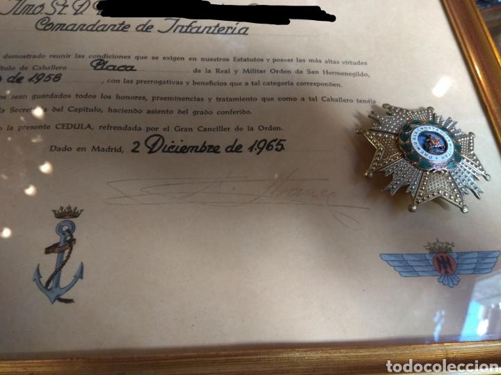 Militaria: Placa Premio A La Constancia Militar y Diploma de Concesión a Comandante de Infantería año 1965 - Foto 3 - 146293148