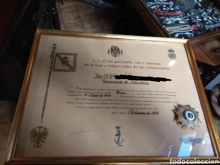 Militaria: Placa Premio A La Constancia Militar y Diploma de Concesión a Comandante de Infantería año 1965 - Foto 12 - 146293148