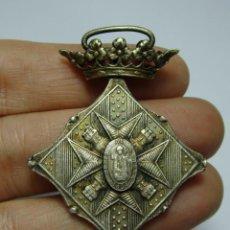 Militaria: MEDALLA DEL CENTENARIO DEL SITIO DE GERONA. 1809-1909. GUERRA INDEPENDENCIA. VERSIÓN PLATA.. Lote 146353322